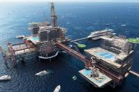 pretpark in zee olieplatform the rig