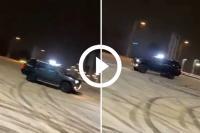 Driften in de sneeuw