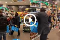 supermarktbeveiliger, mondkapjesweigeraar